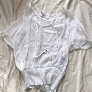 Guess white linen shirt